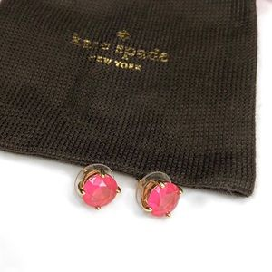 Kate Spade Pink Gumdrop Stud Earrings